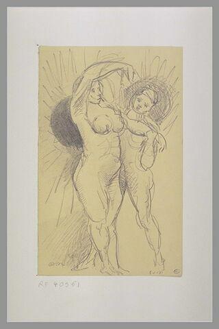 Deux femmes nues debout