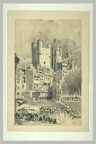 Narbonne : la cathédrale et l'Hôtel de Ville