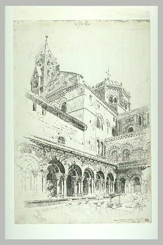 Le cloître, le dôme et le clocher de la cathédrale du Puy