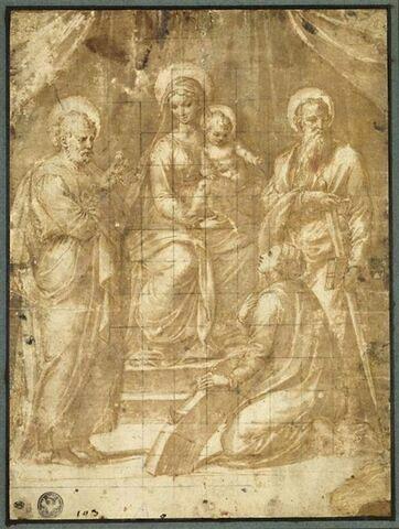 La Vierge à l'Enfant avec saint Pierre, saint Paul et sainte Catherine