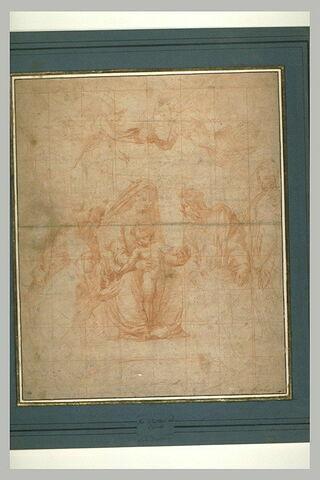 La Vierge à l'Enfant entre des saints, adorée par Léon X