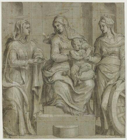 La Vierge, l'Enfant Jésus, sainte Lucie et sainte Catherine
