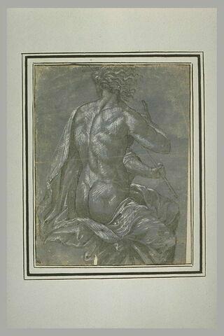 Saint Jean Baptiste, de dos, à demi nu