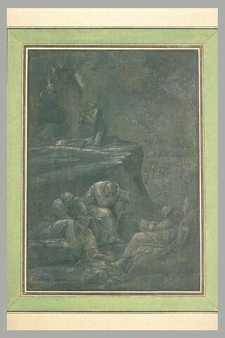 Le Christ priant au jardin des Oliviers est reconforté par un ange