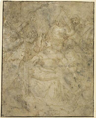 Le Christ mort sur les genoux de la Vierge au pied de la Croix