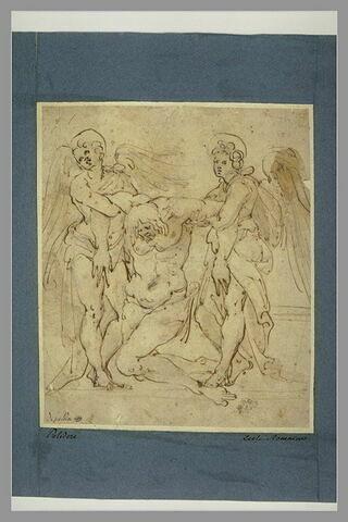 Le Christ mort soutenu par deux anges