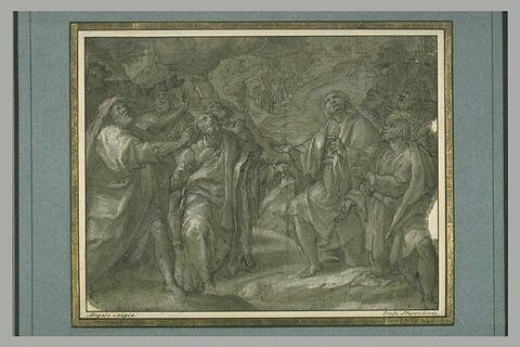Les apôtres assistent à l'Ascension du Christ