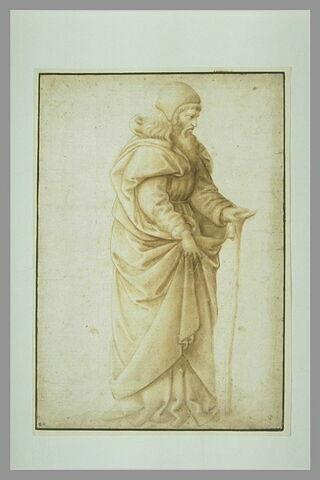 Saint Antoine avec un bâton dans la main