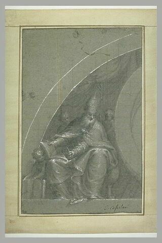 Saint Sixte pape, avec trois putti