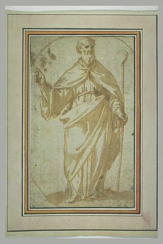 Saint évêque debout, bénissant