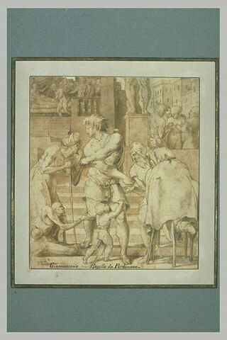 Saint Roch distribuant ses biens aux pauvres