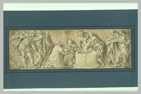 Saint Sigismond et sa femme et le martyre de leurs enfants