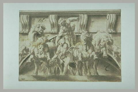 L'Aurore (?) ou Flore (?) précédant Apollon sur le char du Soleil