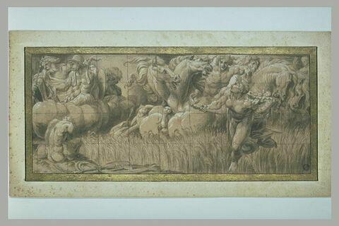 Apollon sur son Char, Jupiter et Mars sur des nuées : allégorie de l'été