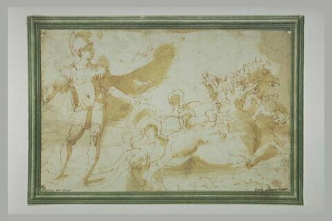 Apollon debout sur son char