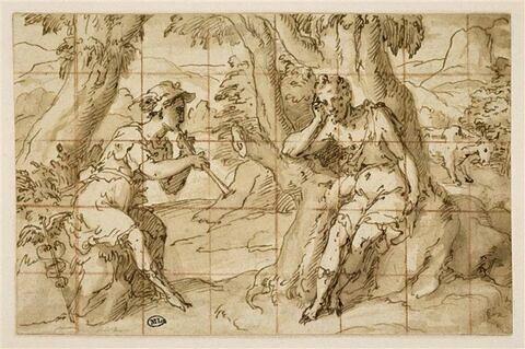 Mercure jouant de la flûte à un berger (Argos)