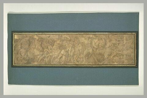 Combat des Centaures et des Lapithes, d'après un bas-relief antique
