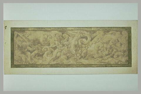 Composition en frise avec déluge mythologique