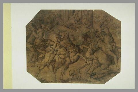 Le combat des Lapithes et des centaures