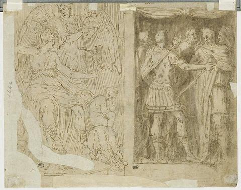 Rome victorieuse ; scène militaire