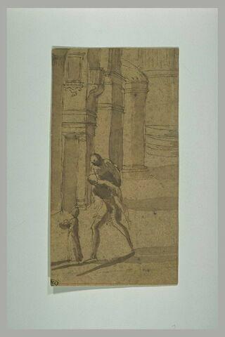 Enée portant Anchise, et guidé par Ascagne