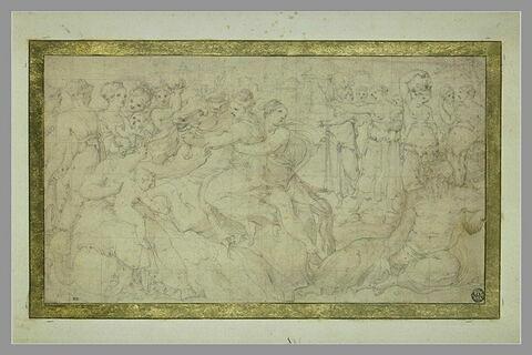 Clélie sauvant les jeunes romaines, et allégorie du Tibre