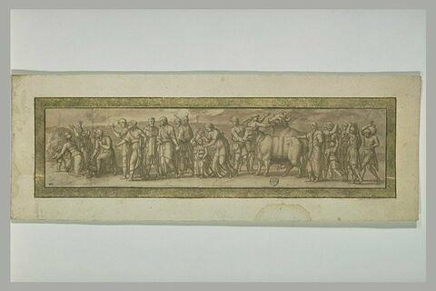 Procession pour le sacrifice de deux taureaux, d'après l'antique