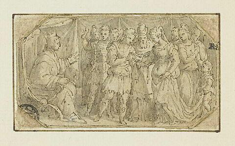 Un mariage en présence d'un souverain
