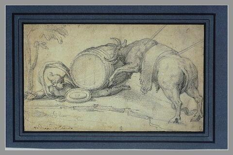 Combat d'un taureau et d'un guerrier