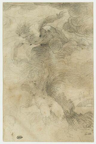 Deux figures sur des nuages : Jupiter et un amour
