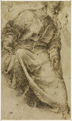 Vieillard drapé assis: Saint Joseph