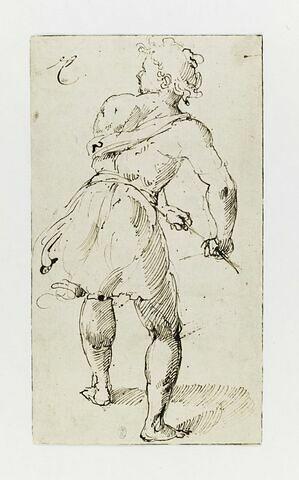 Homme à demi drapé, vu de dos