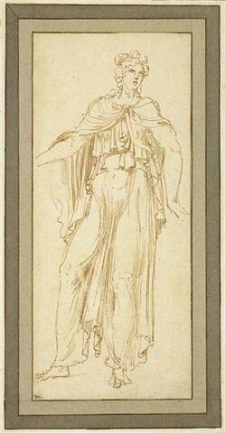 Femme, debout, drapée regardant à droite, d'après l'antique