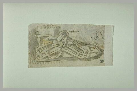 Etude d'après l'antique d'un pied chaussé du cothurne
