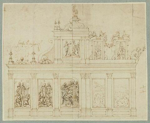 Deux projet : étude décorative pour une façade avec allégories de l'Hymen