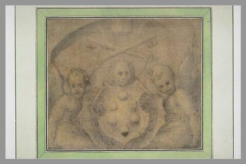 Les armes de Léon X, soutenues par deux anges