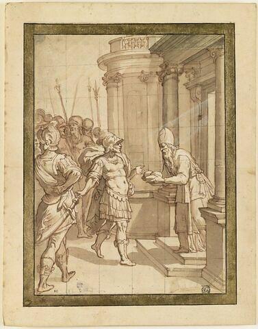 Melchisédech offrant le pain à Abraham