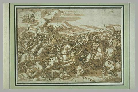 Moïse sur la montagne, regardant la bataille