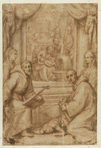 Naissance de la Vierge et quatre saints