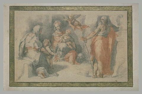 La Sainte Famille avec le petit saint Jean et sainte Anne
