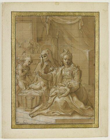 La Vierge et l'Enfant, Ste Elisabeth, St Jean et St Joseph travaillant
