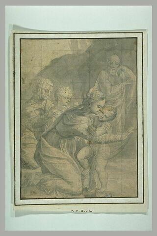 La Sainte Famille avec sainte Elisabeth et saint Jean