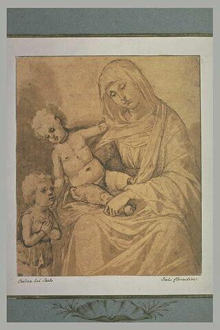 La Vierge tenant l'Enfant Jésus et le petit saint Jean