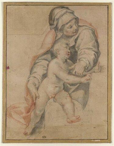 Sainte Anne et saint Jean enfant