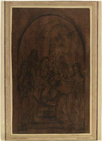 La Sainte Famille avec les saints Jean Baptiste, Antoine de Padoue et un saint jésuite