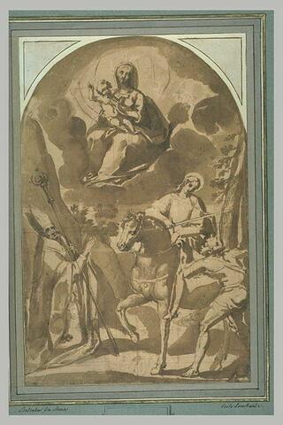 Apparition de la Vierge en gloire à saint Martin et à un évêque