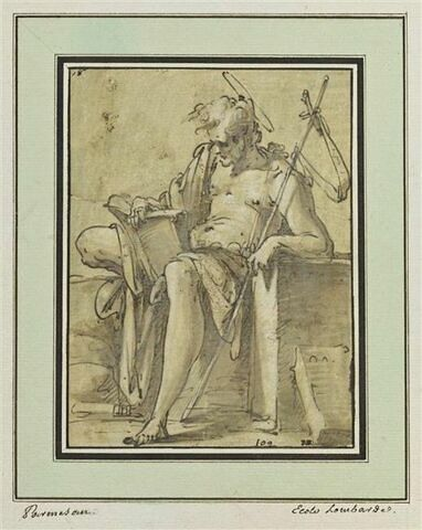 Saint Jean-Baptiste assis, lisant