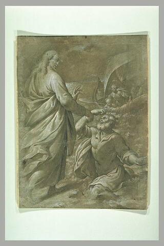 Jésus marchant sur les eaux sauve Pierre qui se noyait
