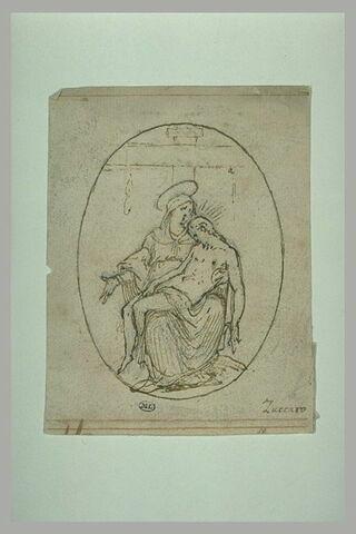 La Vierge tenant sur ses genoux le corps de son fils