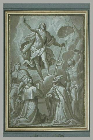 La Résurrection du Christ devant quatre saints